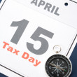 Stock Photo: Calendar Tax Day