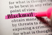Blackmail — Stock Photo