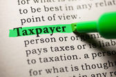 Taxpayer — Foto Stock