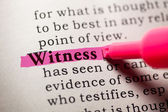 Witness — Stock Photo