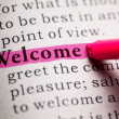 Welcome — Stock Photo #43074019