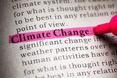 изменение климата — Стоковое фото