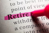Retire — Stock Photo