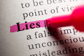 Lies — Stock Photo