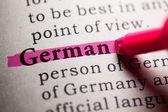 Duits — Stockfoto