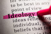 Fake Dictionary, Dictionary definition of the word ideology. — Stock Photo