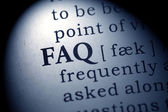 Word of FAQ — Stock Photo