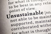 Unsustainable — Stock Photo