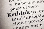 Rethink — Stock Photo
