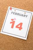 Calendar Valentine's Day — Stock Photo