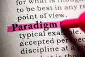Paradigm — Stock Photo