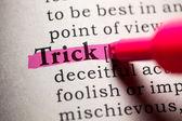 Trick — Stock Photo