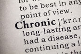 Chronic — Stock Photo