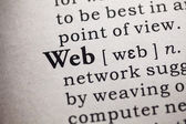 Word of web — Stock Photo