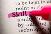 Skill — Stock Photo