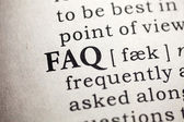 Frequently Asked Questions  — Foto de Stock