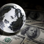 Globe and dollar — Stock Photo #5753066