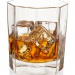 Whiskey with ice cubes. — Stock Photo