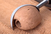 Chocolate ice cream. — Stock Photo