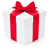 Gift with ribbon and bow. — Foto de Stock