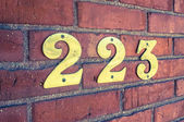 Address Number Closeup — Stock Photo