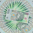 Polish zloty banknotes of 100 — Stock Photo
