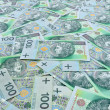 Stock Photo: Polish banknotes 100 zloty background