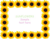 Sunflower frame — Foto Stock