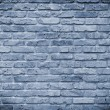 Old brick wall cyan — Foto Stock