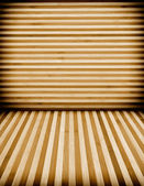 Wooden wall and floor background — Stock Photo