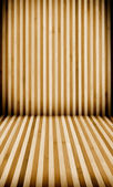 Striped wooden floor and wall — Stock Photo