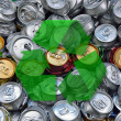 Crashed beer cans — Stock Photo #30579229