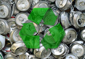 Crashed beer cans — Stock Photo