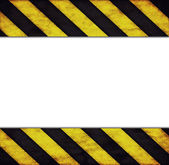 Frame with warning stripes — Stock Photo