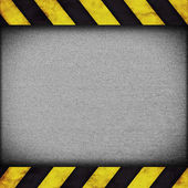 Warning stripes background with rusty plate — Stock Photo