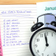 Stock Photo: New Year's Resolutions