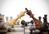 Kings chess duel — Stock Photo
