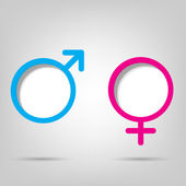 Gender symbols — Vector de stock