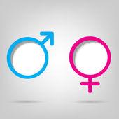 Símbolos de género — Vector de stock