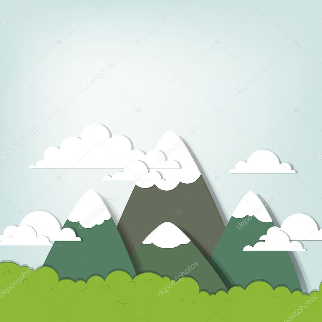 山风景.创意矢量贴花 — 矢量图片作者 dzm1try