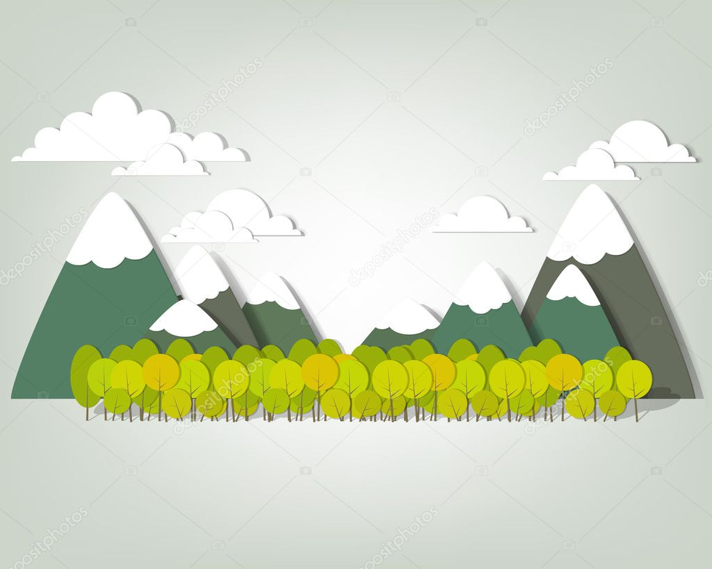 Mountain landscape. creative vector applique  Stock Vector #13261171