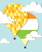 Hot air balloons in the sky — Vector de stock