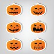 Pumpkins for Halloween. — Stock Vector
