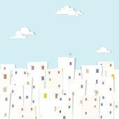 Urban landscape. seamless pattern — Stock Vector
