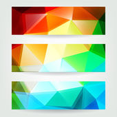 Geometric header set — Stock Vector