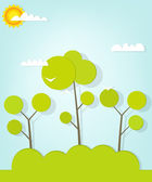 Forest landscape — Stock Vector