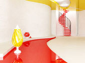 The vases and the stairway — Stock Photo