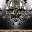 Beautiful antique chandelier — Stock Photo