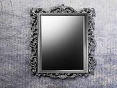 Retro antique mirror on the wall — Stock Photo