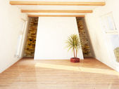 Beautiful attic room — Stock Photo